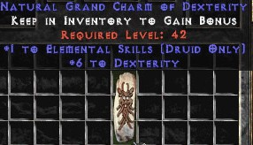 Druid Elemental Skills w/ 6 Dex GC