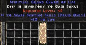 Druid Shape Shifting Skills w/ 10-20 Life GC