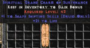 Druid Shape Shifting Skills w/ 21-29 Life GC