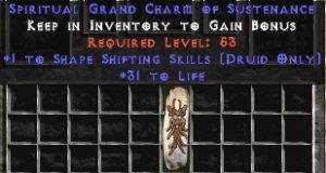 Druid Shape Shifting Skills w/ 31-34 Life GC