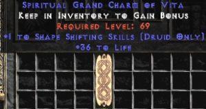 Druid Shape Shifting Skills w/ 36-39 Life GC