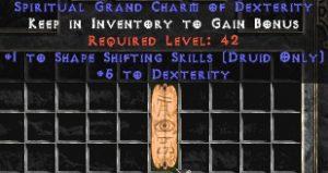Druid Shape Shifting Skills w/ 3-5 Dex GC