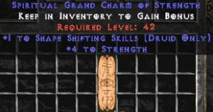 Druid Shape Shifting Skills w/ 3-5 Str GC