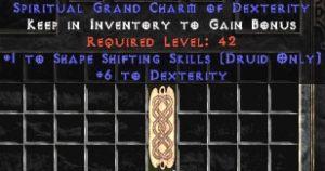 Druid Shape Shifting Skills w/ 6 Dex GC