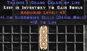 Druid Summoning Skills w/ 10-20 Life GC