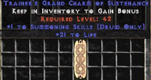 Druid Summoning Skills w/ 21-29 Life GC