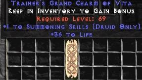 Druid Summoning Skills w/ 36-39 Life GC