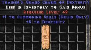Druid Summoning Skills w/ 3-5 Dex GC