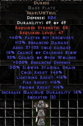 Duress Mage Plate - 185-199% EDef
