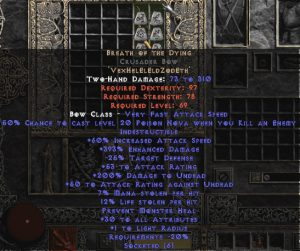 Breath of the Dying Crusader Bow - 385-399% ED