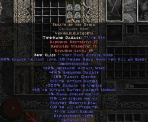 Breath of the Dying Crusader Bow - 415% ED & 15% LL - Perfect