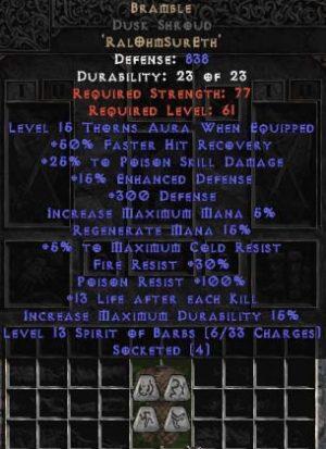 Bramble Dusk Shroud - +25-39% PSD - Base 15% ED