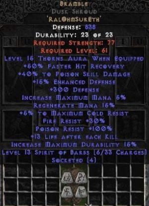 Bramble Dusk Shroud - +40-49% PSD - Base 15% ED