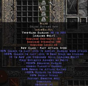 Brand - Grand Matron Bow - 3 B&C - 320-339% ED
