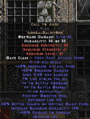 Call to Arms Flail - Ethereal - +4-5 BO