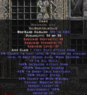 Doom Berserker Axe - 330-369% ED