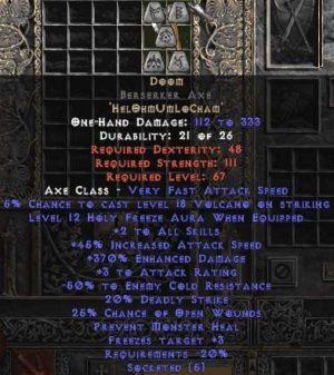 Doom Berserker Axe - 370-384% ED