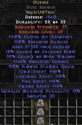 Duress Dusk Shroud - 150-184% EDef