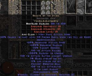 Breath of the Dying Berserker Axe - Ethereal - 400-414% ED