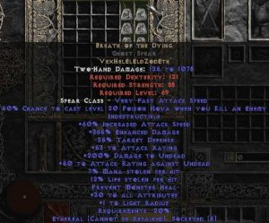 Breath of the Dying Ghost Spear - Ethereal - 350-384% ED