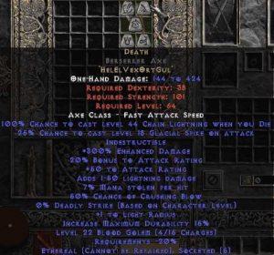 Death Berserker Axe - Ethereal - 300-349% ED