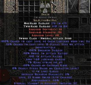 Death Colossus Sword - Ethereal - 350-379% ED