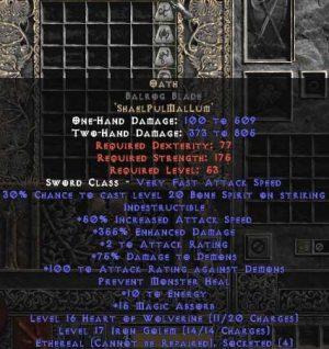 Oath Balrog Blade - Ethereal - 355% ED & 10-14 MA