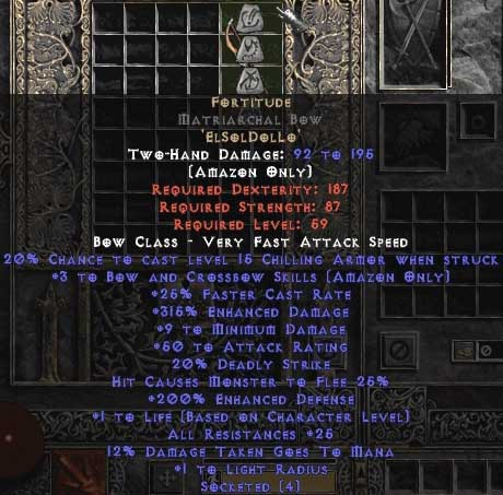 Fortitude Matriarchal Bow - 3 B&C - 25-29 Res & 1.5 Life