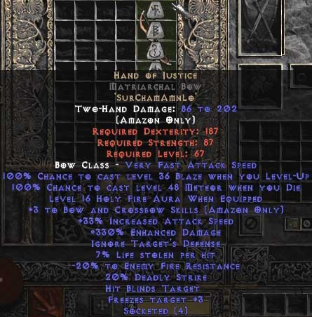 Hand of Justice Matriarchal Bow - 3 B&C - 330-344% ED