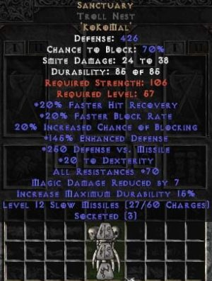 Sanctuary Troll Nest - 70 Res & 175% ED - Perfect