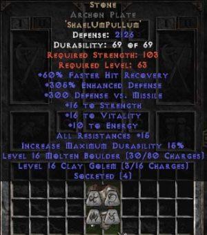 Stone Archon Plate - 290% ED - Perfect