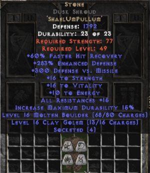 Stone Dusk Shroud - 250-269% ED