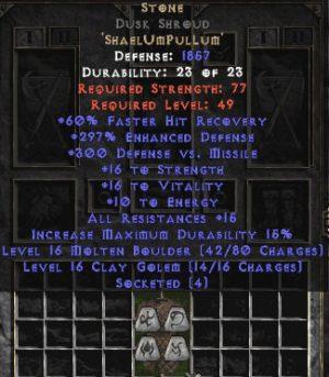 Stone Dusk Shroud - 270-289% ED