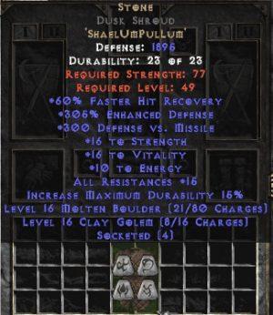 Stone Dusk Shroud - 290% ED - Perfect