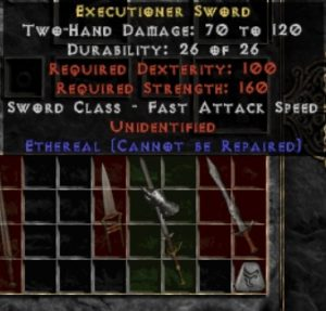 10x Unid Rare Executioner Sword Ethereal
