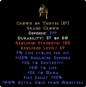 Crown of Thieves - 100% Extra Gold