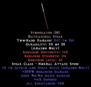 Stoneraven - 280% ED