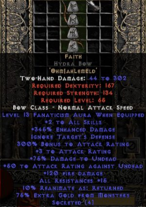 Faith Hydra Bow - 2 Skills & 12-14 Fanat