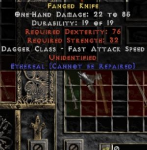 10x Unid Rare Fanged Knife Ethereal
