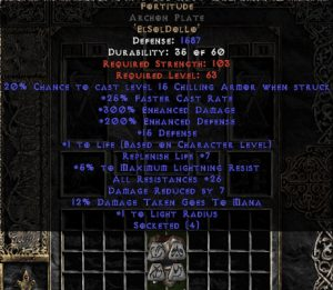 Fortitude Archon Plate - 25-29 Res & 1.5 Life