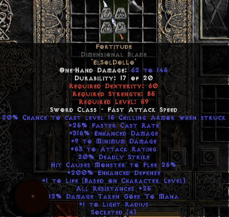 Fortitude Dimensional Blade - 25-29 Res & 1.5 Life