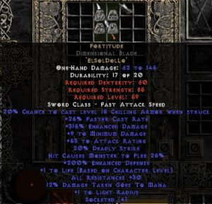Fortitude Dimensional Blade - 30 Res & 1-1.375 Life