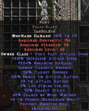 Fury Phase Blade - 15% ED