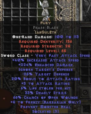 Fury Phase Blade - 0-14% ED