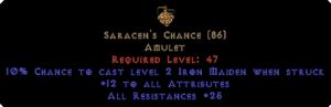 Saracen's Chance - 25 Resist All - Perfect