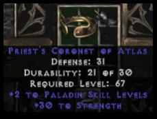-+2 Paladin Skills/30 Str Diadem/Tiara/Circlet - 2 Socket