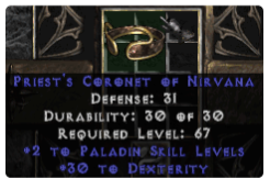 -+2 Paladin Skills/30 Dex Diadem/Tiara/Circlet - 0 Socket