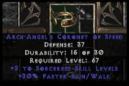 -+2 Sorceress Skills/30% FRW Diadem/Tiara/Circlet - 2 Socket