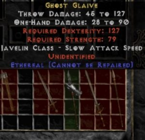 10x Unid Rare Ghost Glaive Ethereal