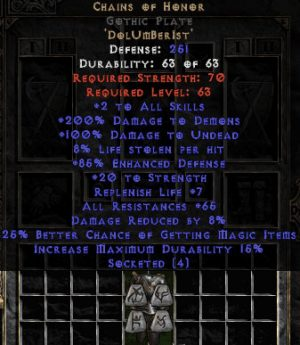 Chains of Honor Gothic Plate - Base 15/15